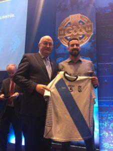 O fútbol gaélico galego presente por primeira vez no congreso da GAA